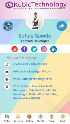 Online business digital card