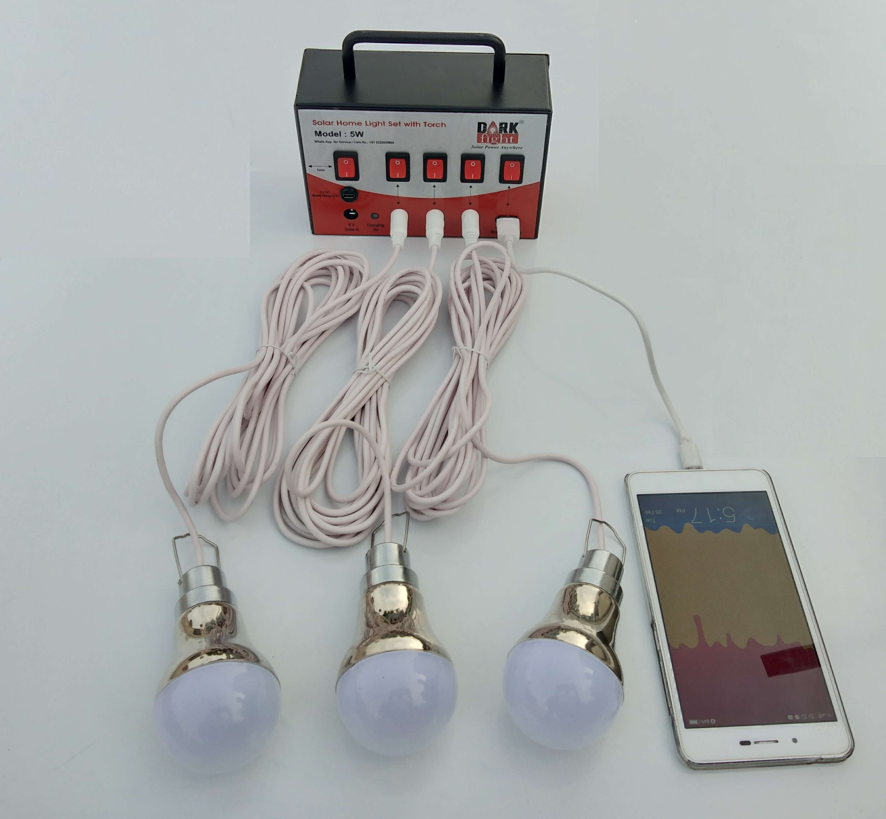Multi Purpose Unit 3 Bulb and Mobile Charging