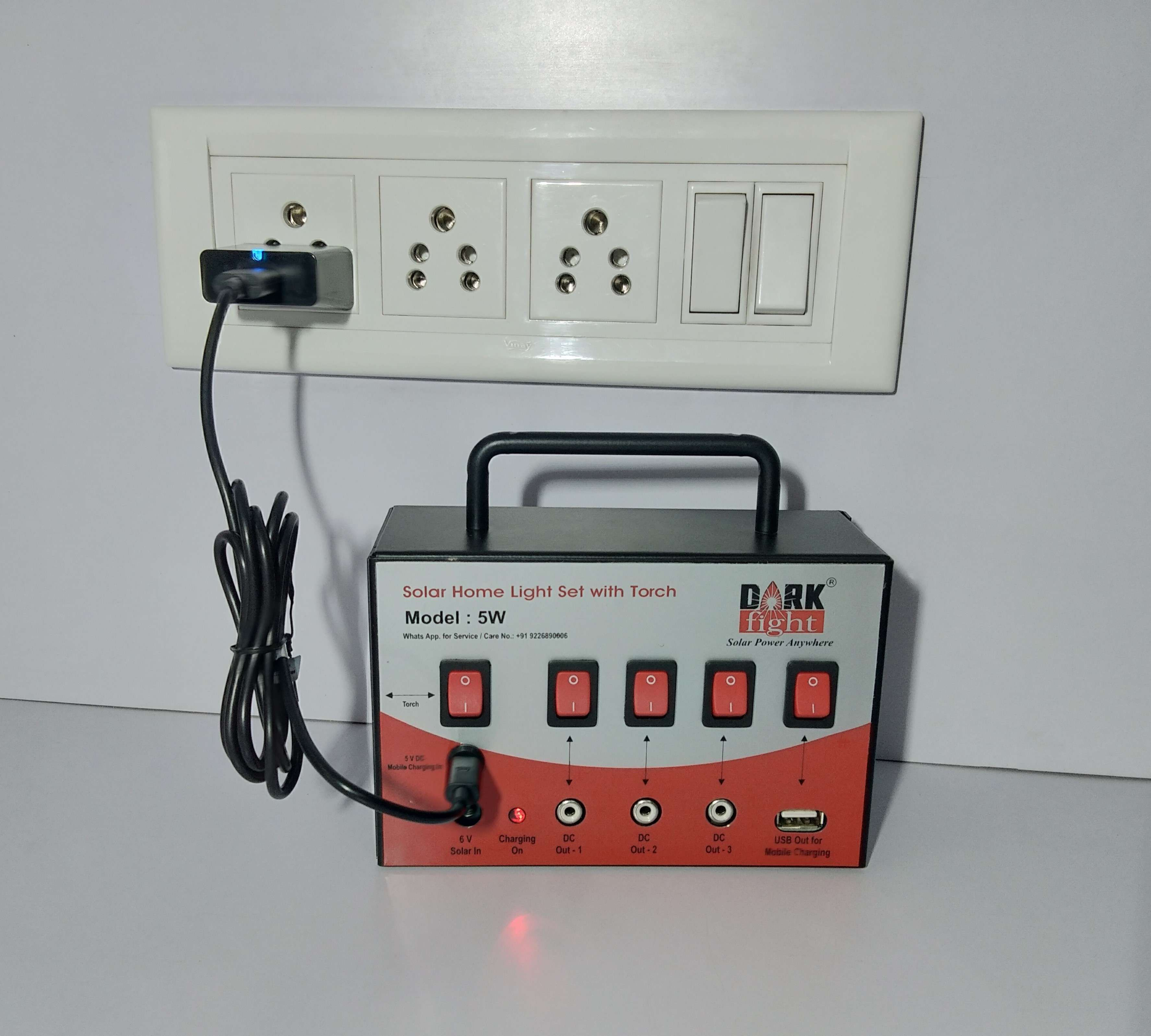Charging Option With USB Mobile Charging (Electricity).