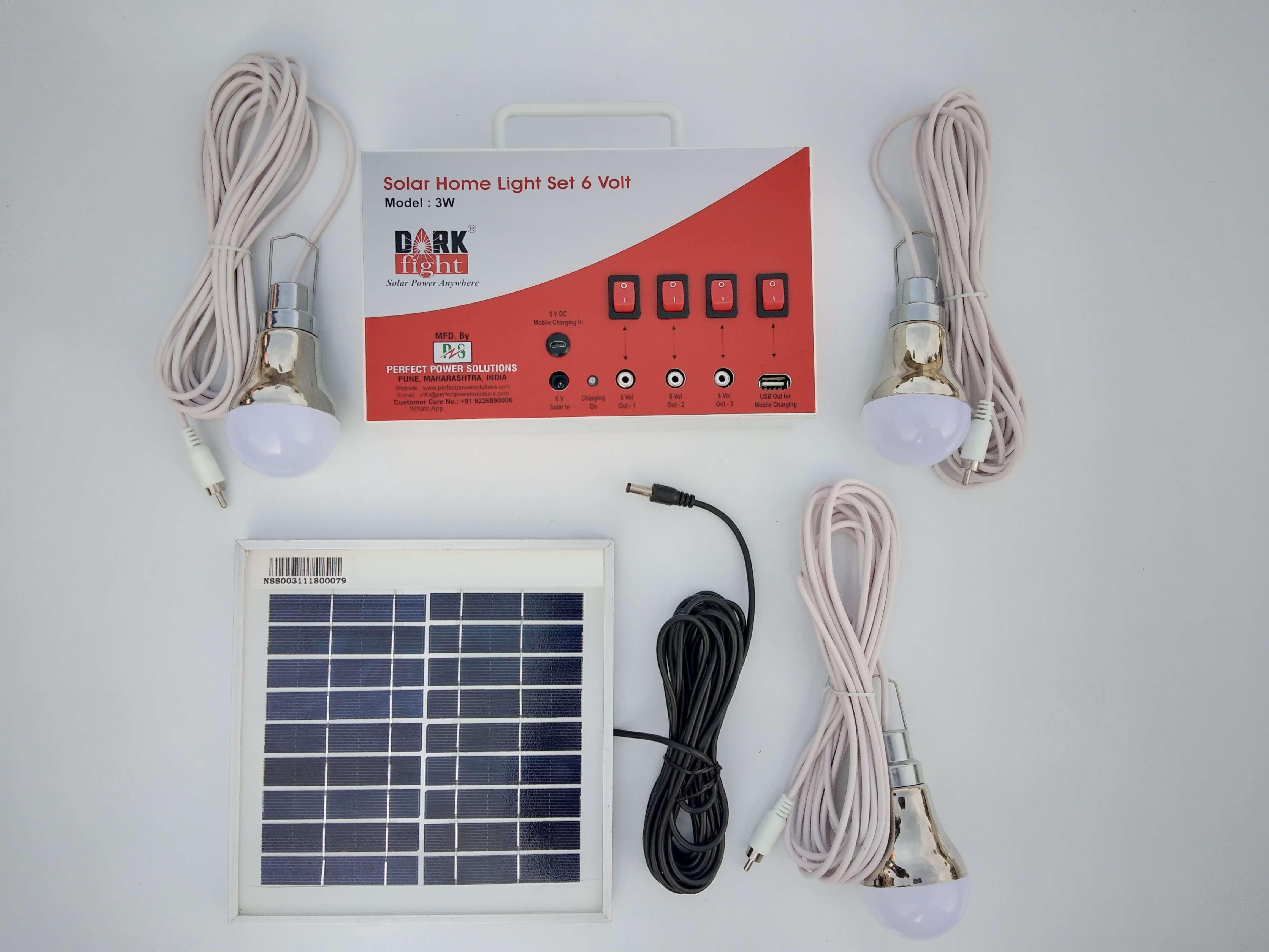 Solar Home Light Set 6 Volt