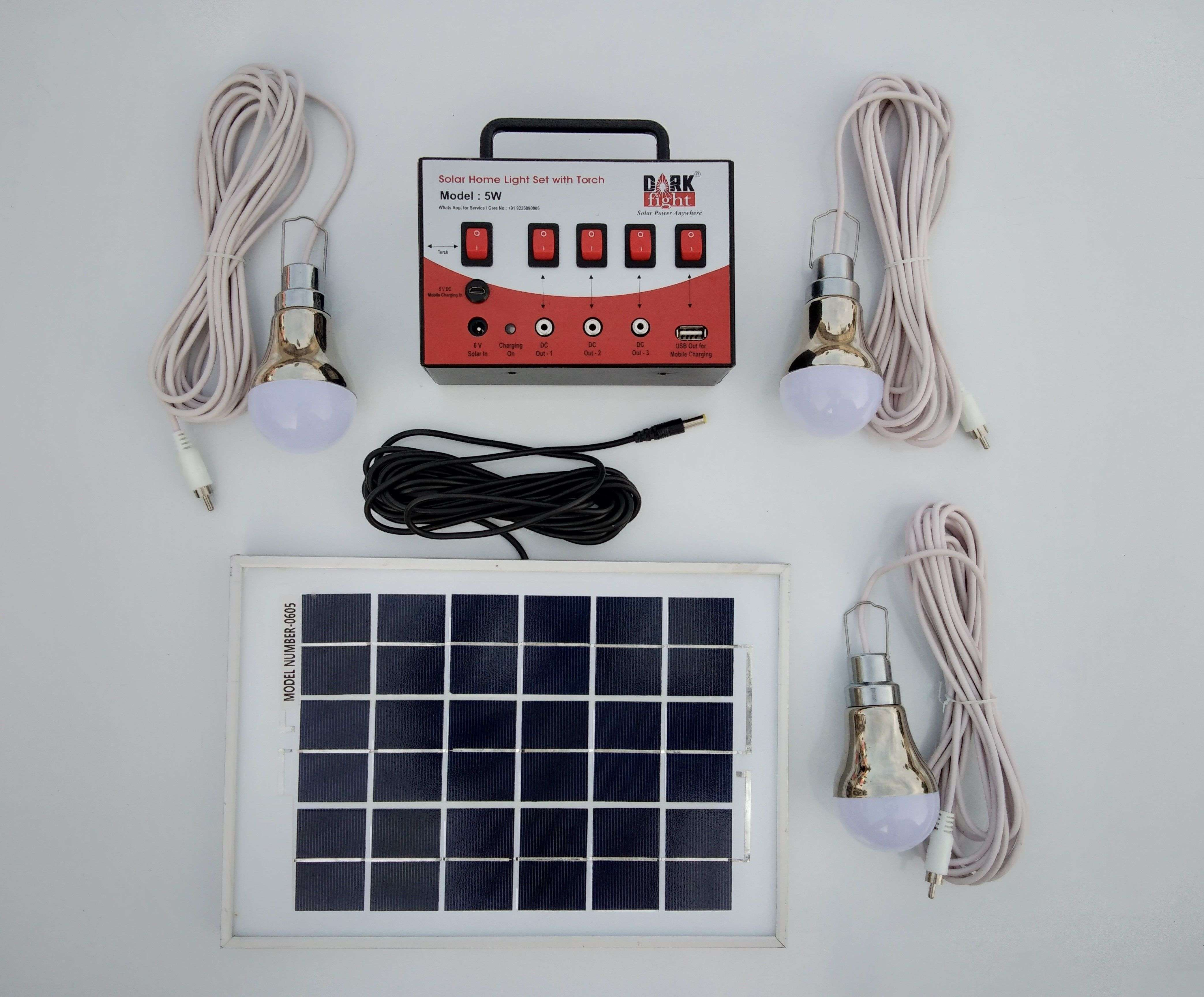 Solar Home Light Set With Torch